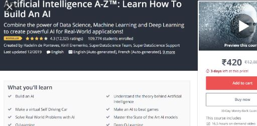 AI A-Z-Learn How to Build an Artificial Intelligence-Udemy