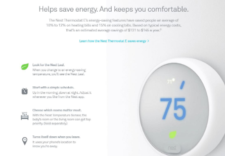 Nest Thermostat Features