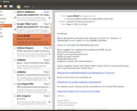 Geary Email Client