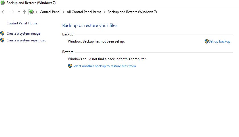 How to Set Up and Enable Windows 10 Backup and Restore Feature