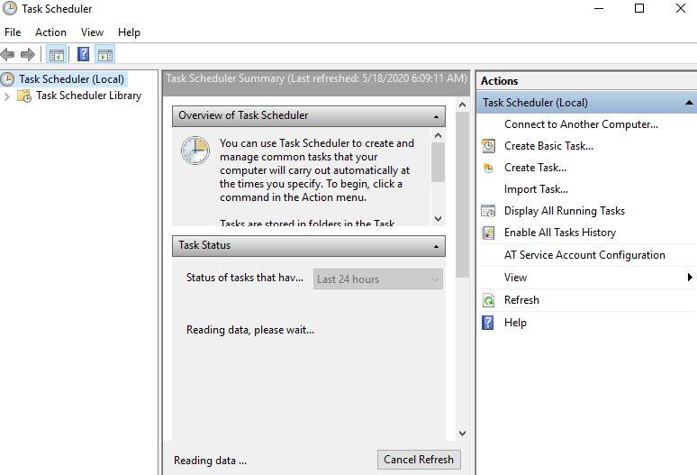 Windows 10 Automation Using Task Scheduler