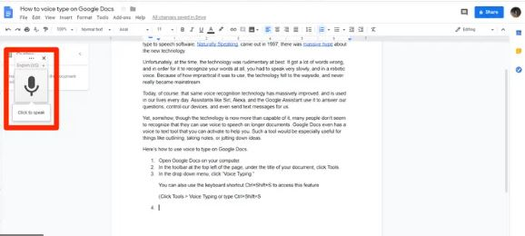 Google Docs - Best Apps for Writers