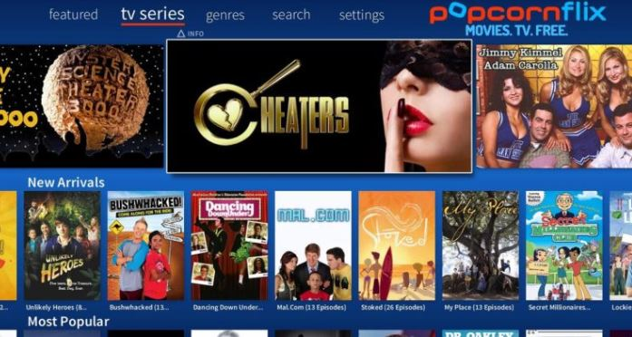Popcornflix - Best Free Streaming Apps