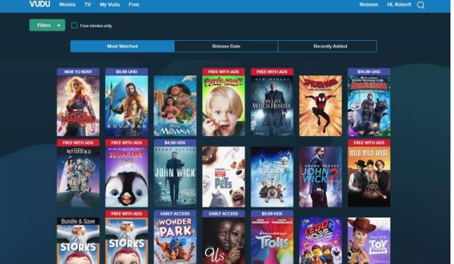 Vudu - Best Free Streaming Apps