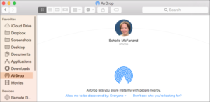 Enabling Airdrop on Mac