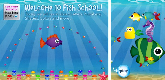 Fish School – Best Preschool Apps