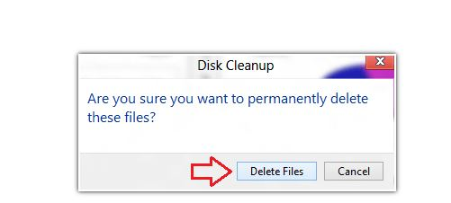remove temporary files in Windows 8...