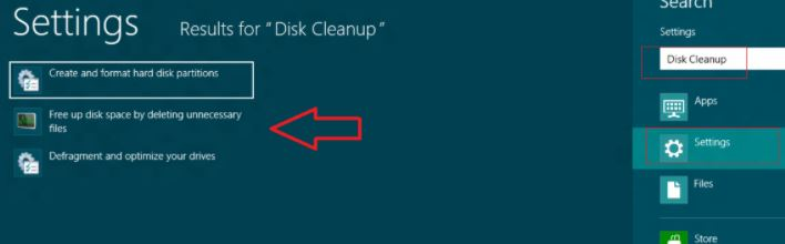 remove temporary files in Windows 8.